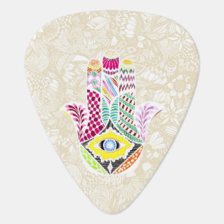 Artistic Hand Drawn Hamsa Hand an Floral Drawings Pick