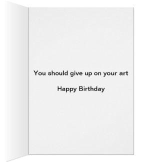 Artistic Happy Birthday Card