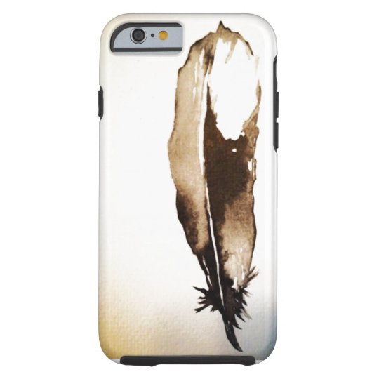 Artistic Hard iPhone6 Phone Case: Feather Tough iPhone 6 Case