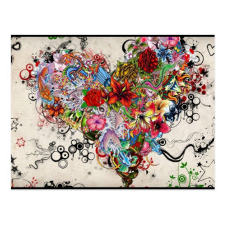 Artistic Heart Postcard