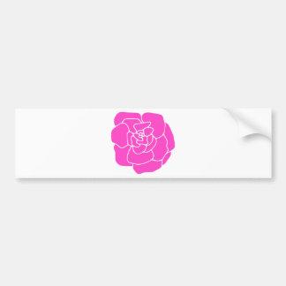 Artistic Hot Pink Rose Bumper Sticker