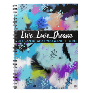 Artistic Hues Of Bright Abstract Watercolor Spiral Notebook