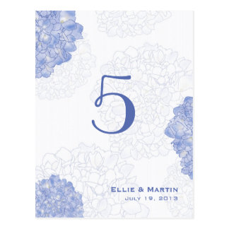 Artistic Hydrangeas Table Number Cards