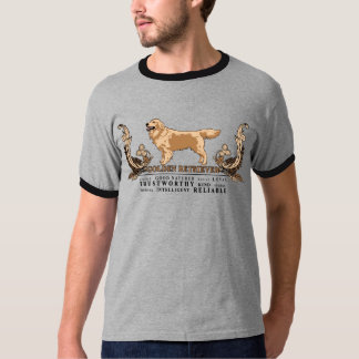 Artistic Illustrated Golden Retriever Traits Shirt