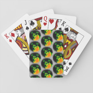 Artistic Jack Russell playing cards