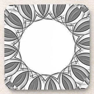 artistic kaleidoscope background coaster