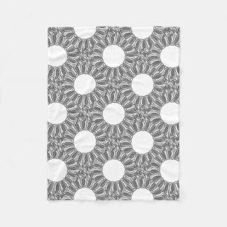 artistic kaleidoscope background fleece blanket
