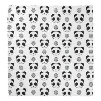 Artistic Kawaii Panda Mandala Pattern Bandana