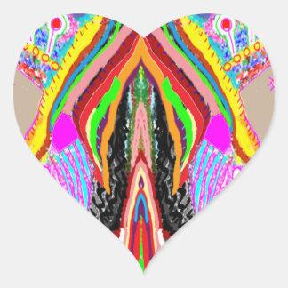 Artistic Lamps Green Nameste Heart Sticker