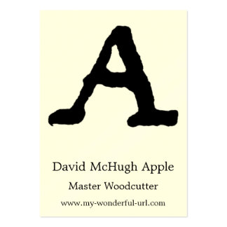 """Artistic Letter """"A"""" Hand Lettered Style Initial Large Business Card"""