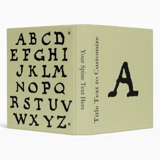 "Artistic Letter ""A"" Woodcut Woodblock Initial Binders"