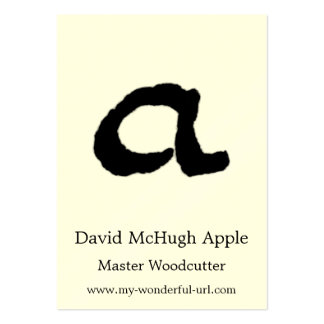 "Artistic Letter ""A"" Woodcut Woodblock Initial Business Card Templates"