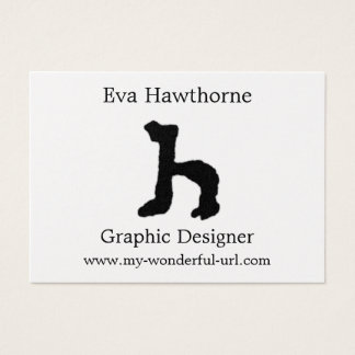 """Artistic Letter """"H"""" Hand Lettered Style Initial Business Card"""