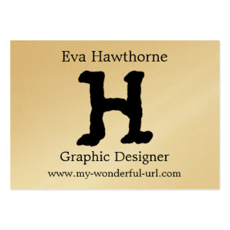 """Artistic Letter """"H"""" Hand Lettered Style Initial Large Business Card"""