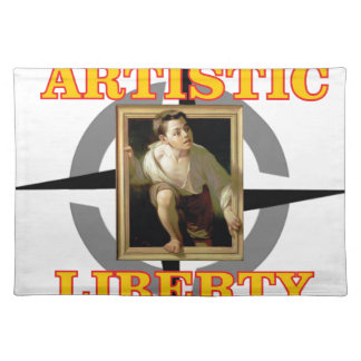 artistic liberty boy leaves painting placemat