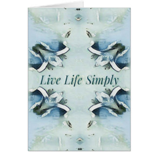 Artistic Light Airy Blue Green Positive Pattern Card