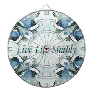 Artistic Light Airy Blue Green Positive Pattern Dartboard