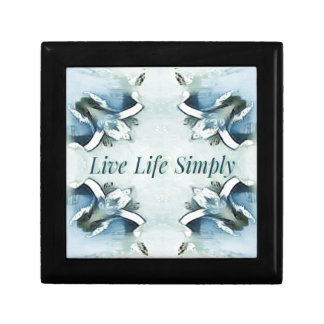 Artistic Light Airy Blue Green Positive Pattern Gift Box