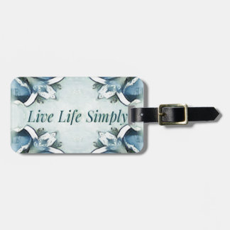 Artistic Light Airy Blue Green Positive Pattern Luggage Tag