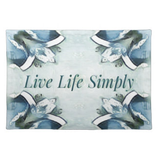 Artistic Light Airy Blue Green Positive Pattern Placemat