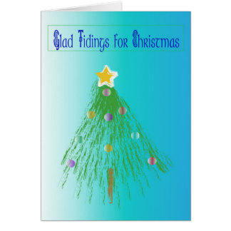 Artistic lined tree greeting card
