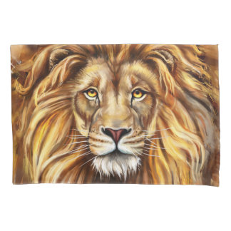 Artistic Lion Face (2 sides) Pillowcase