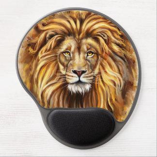 Artistic Lion Face Gel Mouse Pad