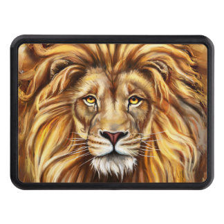Artistic Lion Face Hitch Cover