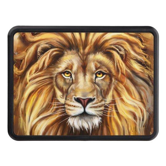 Artistic Lion Face Hitch Cover