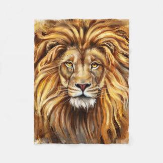 Artistic Lion Face Small Fleece Blanket
