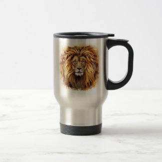 Artistic Lion Face Travel Mug