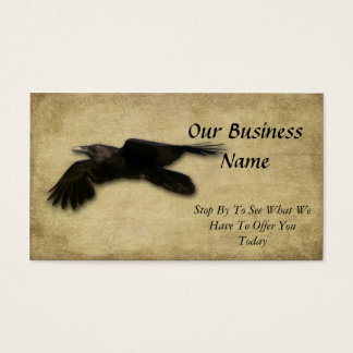 Artistic- Lone Black Crow Business Card
