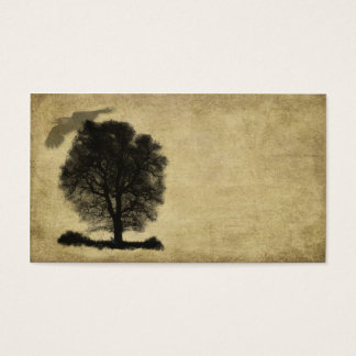 Artistic- Lone Stark Tree & Crow Business Card