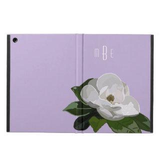 Artistic Magnolia Flower on Purple iPad Air Covers