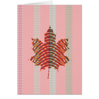 ARTISTIC MAPLELEAF: Taste Maple Syrup Sweet GIFTS Greeting Cards