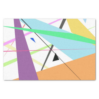 Artistic modern abstract  geometric stripes tissue paper