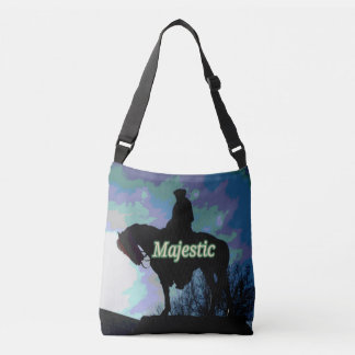 "Artistic Modern ""Majestic ""George Washington Horse Crossbody Bag"