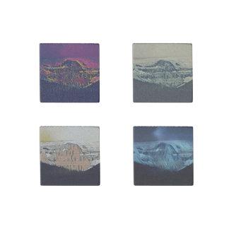 Artistic Mountain Stone Coasters Stone Magnets