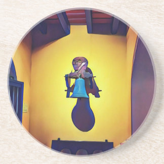 Artistic Mounted Bell Naive Of Church Coaster