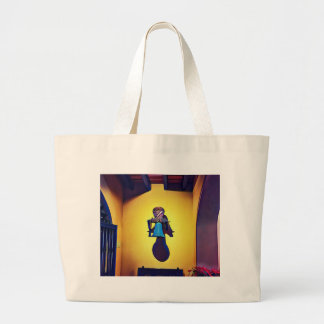 Artistic Mounted Bell Naive Of Church Large Tote Bag