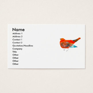 Artistic Nature Design with Red Bird Business Card
