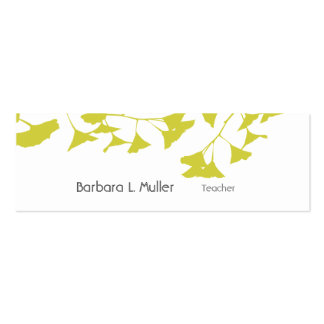 Artistic Nature Golden Ginkgo Pack Of Skinny Business Cards