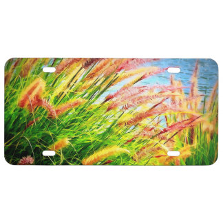 Artistic Nature Scene License Plate
