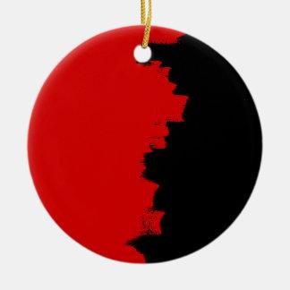 Artistic network texture round ceramic ornament