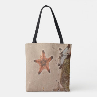 Artistic Neutral Tans Starfish On Sand Tote Bag