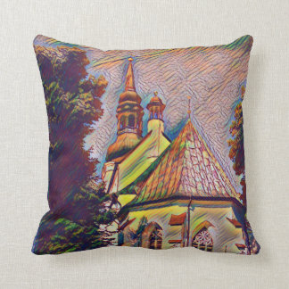 Artistic Old World 3 Tiered Church Steeple Throw Pillow