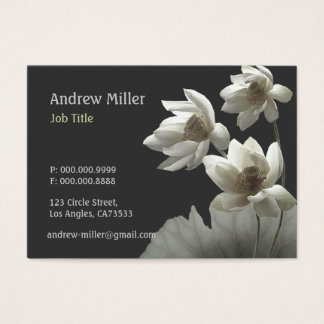 Artistic Oriental Lotus Blossoms Waterlilies Business Card