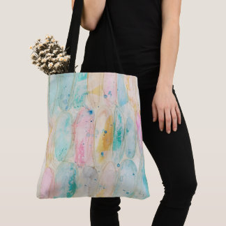 Artistic Ovals Watercolor Distressed Grungy Shabby Tote Bag