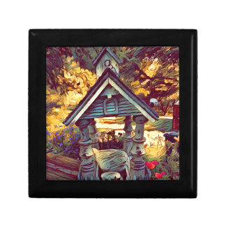 Artistic Painted Photographic Outdoor Birdfeeder Gift Box