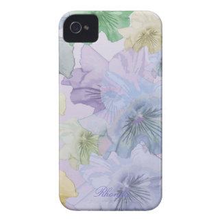 Artistic Pastel Flowers iPhone 4 Case